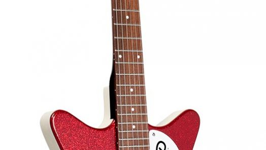 Danelectro '59M NOS+ electric guitar in new Red & Orange Metalflake finishes with enhanced lipstick pickups