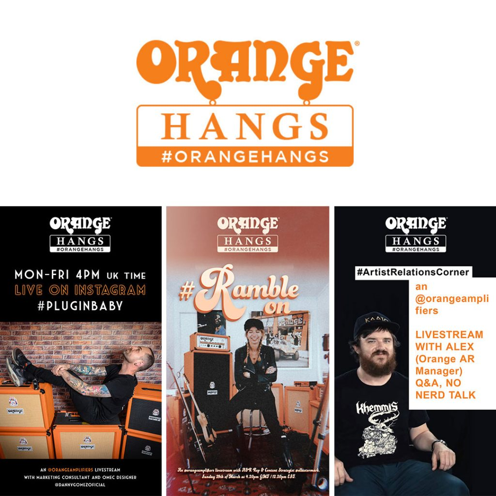 Orange Amps Instagram Hangs