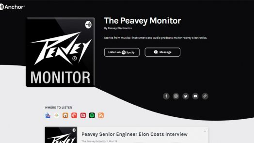 """Peavey® Invites Storytelling in New """"Peavey Monitor"""" Podcast Series"""