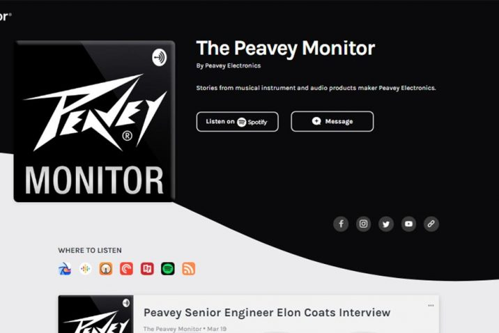 "Peavey® Invites Storytelling in New ""Peavey Monitor"" Podcast Series"
