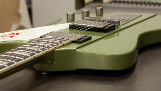 Volt Electrics 'Reverse' Model with Sheptone Pickups