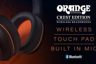 Orange Amps Launch Crest Edition Wireless Headphones