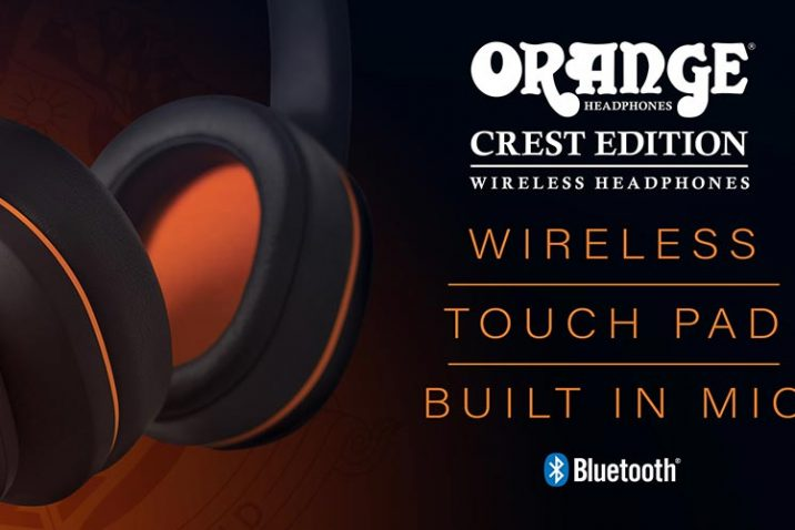 Orange Amps Launch Crest Edition Wireless Headphones
