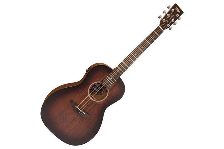 Vintage Statesboro electro-acoustic Parlour guitar VE880WK