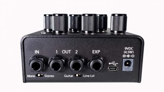 The rear panel of Eventide's new Blackhole reverb pedal