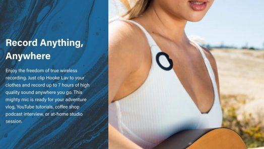 Hooke Audio introduces Hooke Lav via Kickstarter; the first mobile, wireless, wearable Bluetooth microphone