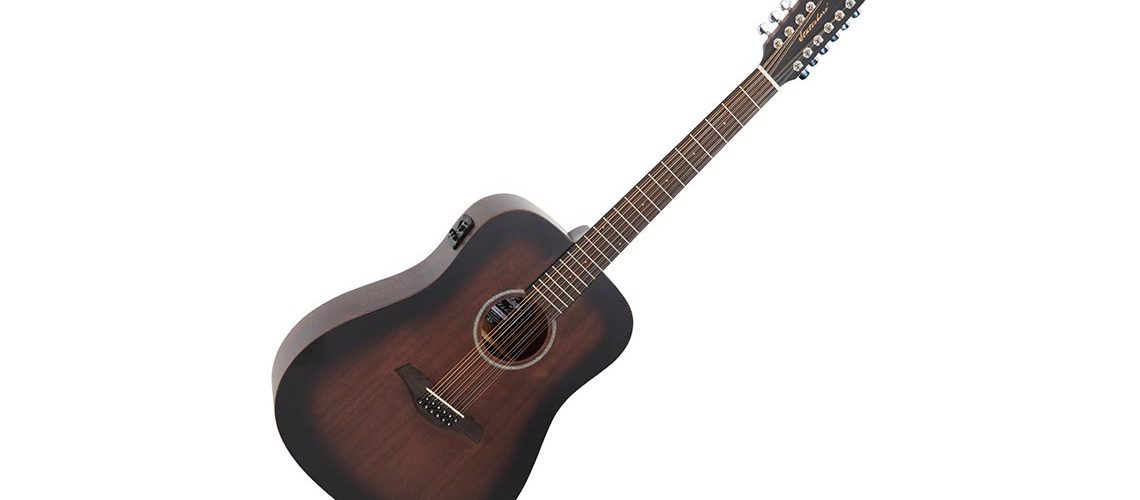 Vintage 12-string electro-acoustic Dreadnought and Left-hand acoustic Orchestra Guitar