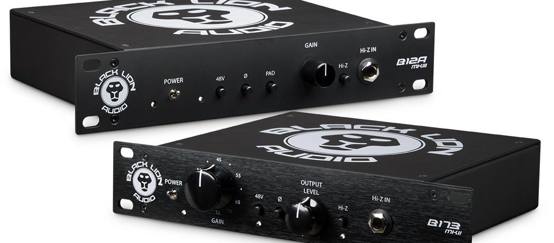 Black Lion Audio B173 mkII and B12A mkIII portable preamps