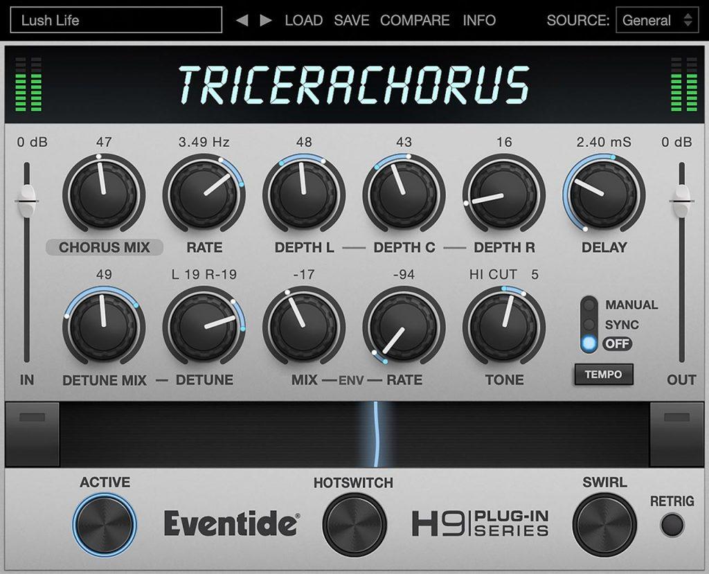 Eventide TriceraChorus for Desktop and Mobile