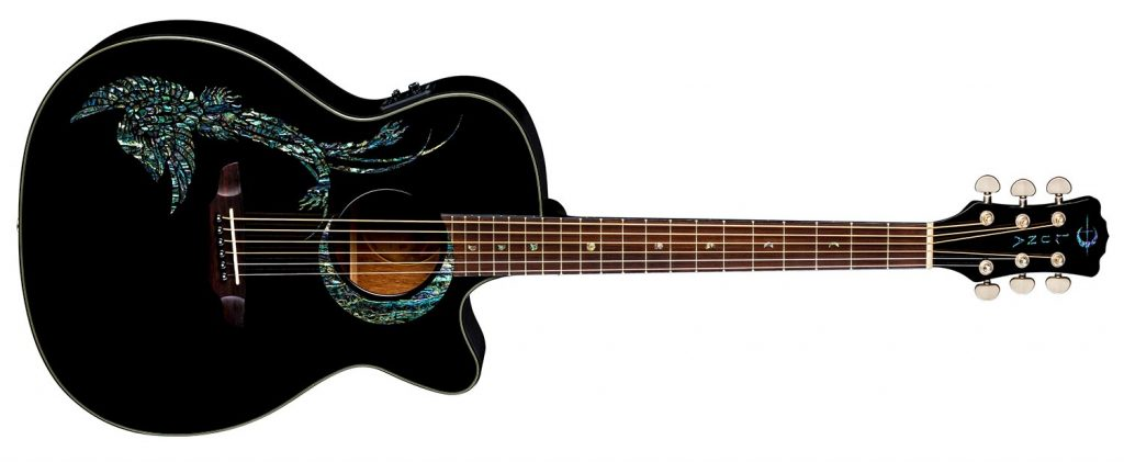 Luna Guitars Fauna Phoenix Acoustic-Electric Black