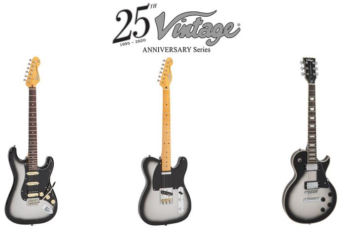 Vintage launch celebratory 25th Anniversary Series limited edition guitar range.
