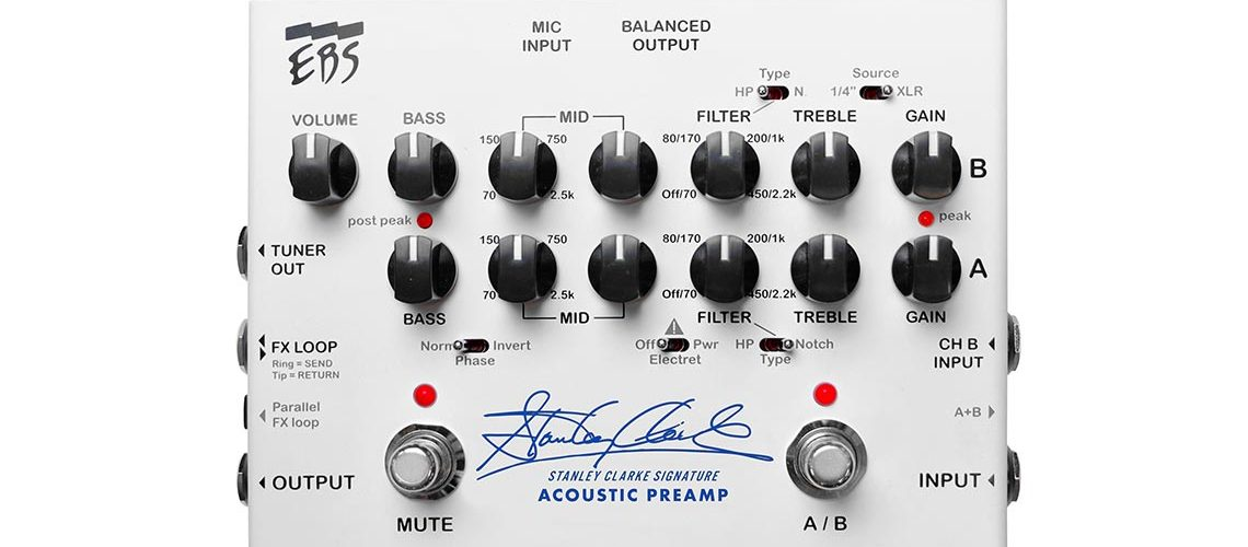 EBS launches a signature Acoustic Preamp with Stanley Clarke