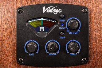 Vintage Statesboro' electro-acoustic bass guitar