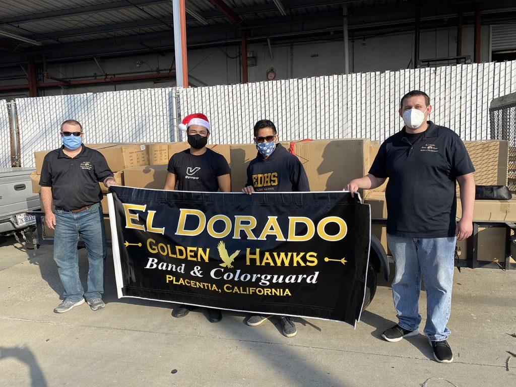 Jyles Baldemore (Middle left) Eric Samson, Director of Instrumental Music at El Dorado (Middle right)