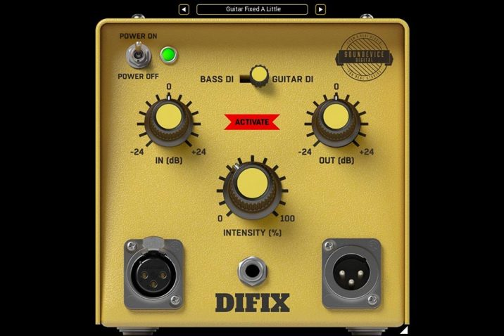 United Plugins DIFIX DI box-emulating Plug-in
