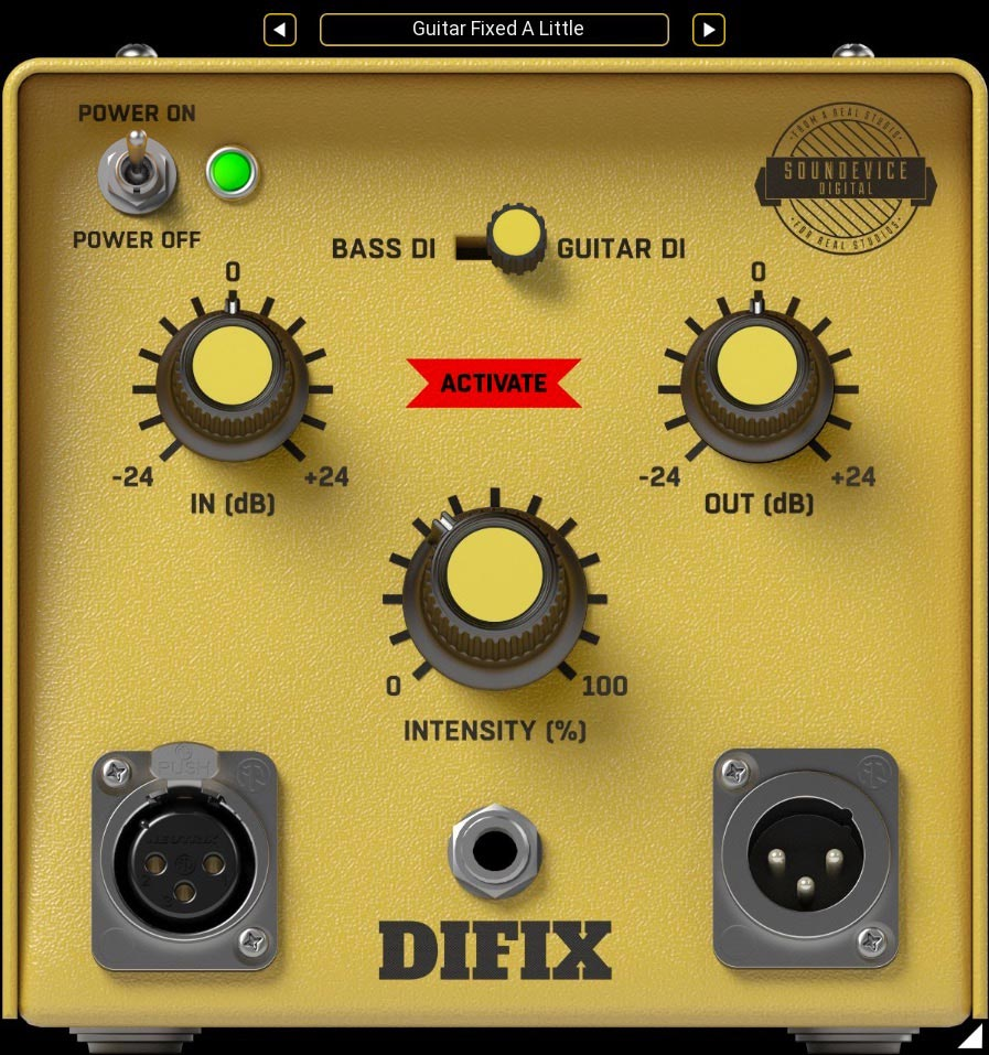 United Plugins DIFIX DI box-emulating Plug-in