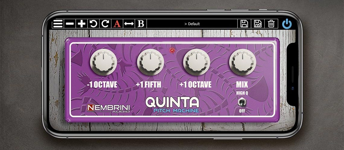 Nembrini Audio Quinta Pitch Machine octave pedal-style plug-in