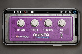 Nembrini Audio Quinta Pitch Machine octave pedal-style plug-in