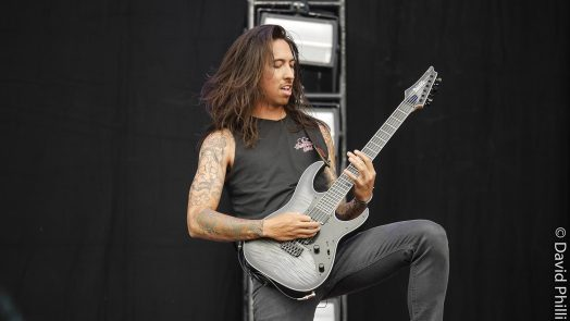 Phil Manansala, lead guitarist with the band Of Mice And Men