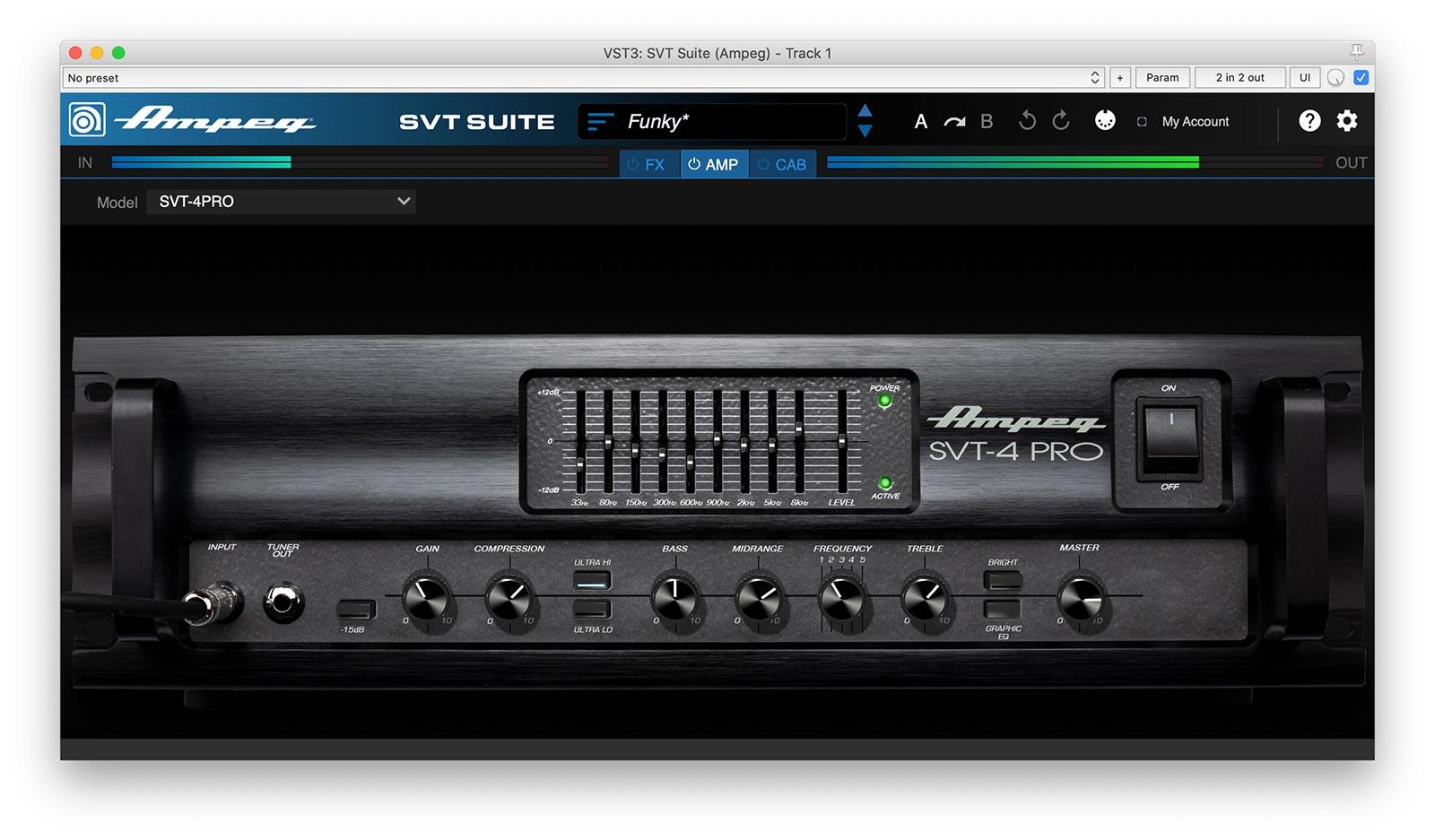 Ampeg SVT Suite bass amplifier plugin