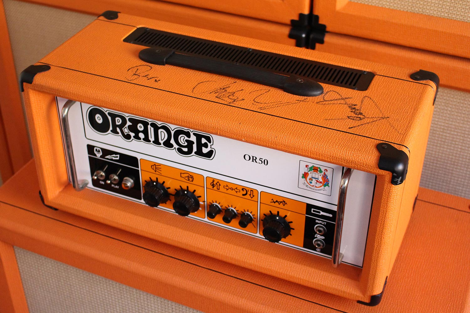 Orange Amplification Auction Signed Biffy Clyro Amp For Cancer Research