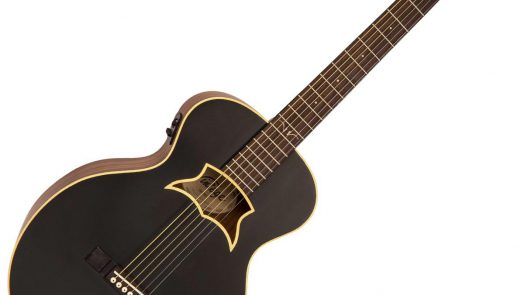 'Raven' electro-acoustic guitar, from the Vintage Paul Brett Series