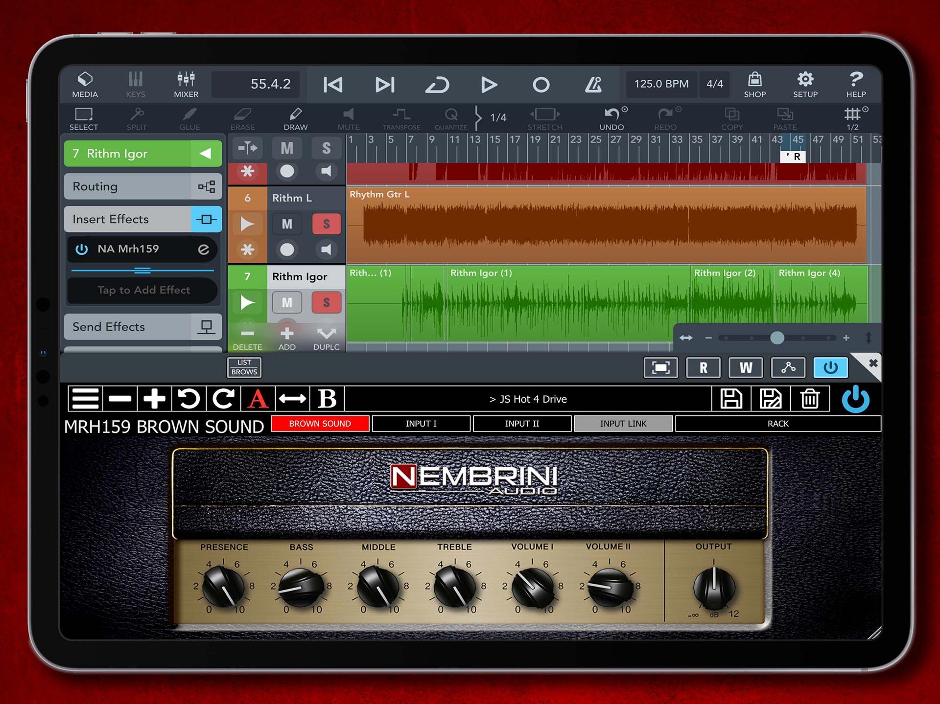 Nembrini Audio MRH-159 Brown Sound guitar amp plugin