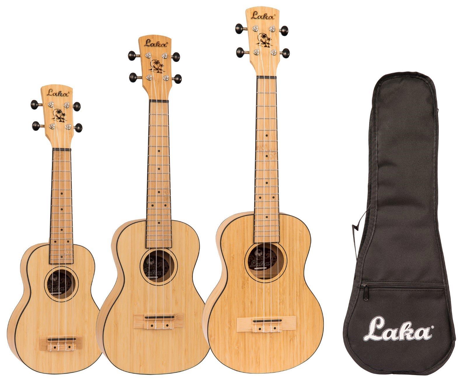 Laka Bamboo Series ukuleles