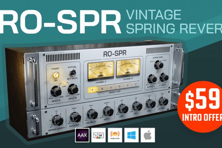 Black Rooster Audio RO-SPR spring reverb plug-in